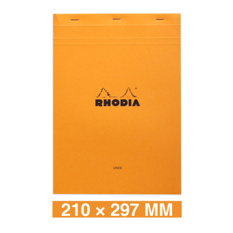 Rhodia A4/A5/a6 orange on the grid blank notebook
