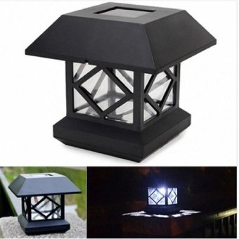 RHS 1.2V Garden Lawn Solar White LED Pillar Lamp Outdoor Cottageyard Fence Light - intl
