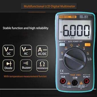 RICHMETERS RM102 True RMS Multifunctional LCD Digital MultimeterDMM DC AC Voltage Current Resistance Diode Capacitance TemperatureTester Measurement Automatic Polarity Identification AmmeterVoltmeter Ohm - intl - 5