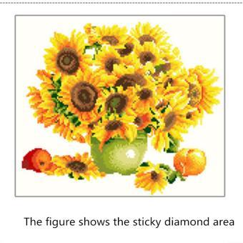 Rising Star Sunflower DIY 5D Diamond Painting Cross Stitch FullDrill Rhinestone Painting Decor #8614 - 4