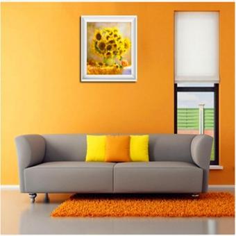 Rising Star Sunflower DIY 5D Diamond Painting Cross Stitch FullDrill Rhinestone Painting Decor #8614 - 3