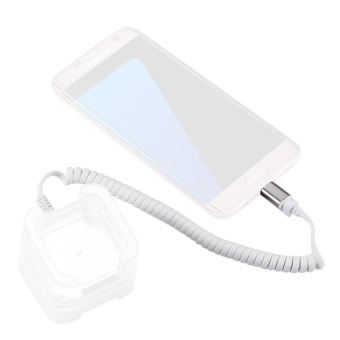 RJ11 To Micro USB 2.0 Anti-Theft Security Retractable Coiled Cable For Android Phones Display Stand - intl