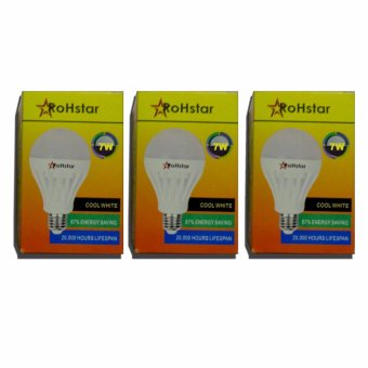 RoHstar Cool LED bulb set of 3 7watts