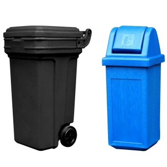 Roller King Large (Black) and Waste Master Small (Blue)