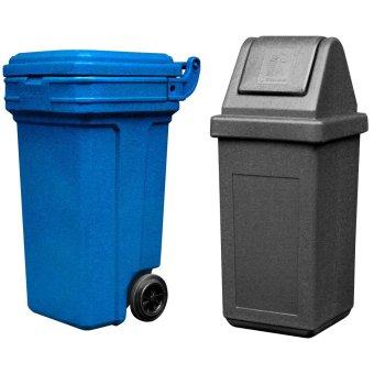 Roller King Large (Blue) and Waste Master Medium (Black)