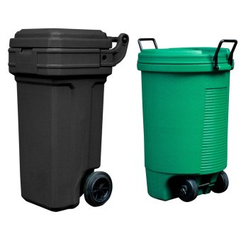 Roller King Small (Black) and Trolley Bin (Green)
