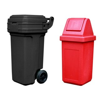 Roller King Small (Black) and Waste Master Medium (Red)