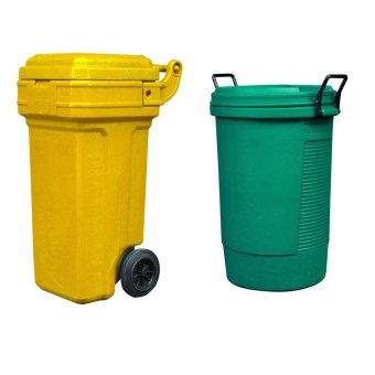 Roller King Small (Yellow) and Round Bin (Green)