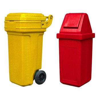Roller King Small (Yellow) and Waste Master Large (Red)