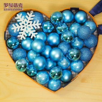 Romantic multi-color 6 cm electroplated gold and silver decorative ball Christmas Ball