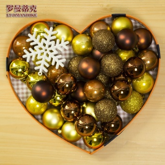 Romantic multi-color 8 cm electroplated gold and silver decorative ball Christmas Ball