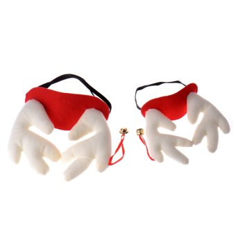 Rondaful RD-DY445TwoRedM Large corners export quality Dog pet Christmas reindeer antlers- Intl