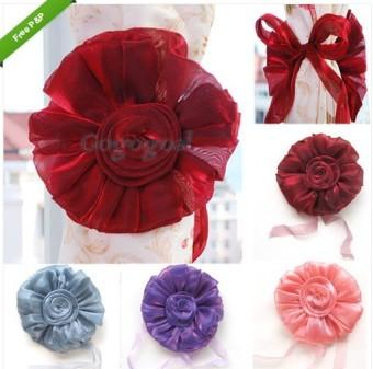 Rose Flower Curtain Tie Backs Voile Net Drape Panel Tieback Holder