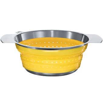 Rosle 24cm Foldable Colander (Yellow)