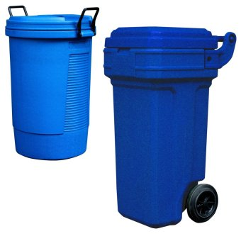 Round Bin (Blue) and Roller King Small (Blue)