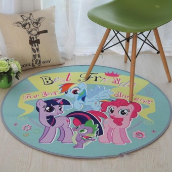 Round Kid Rugs Table Floor Mats Carpets Anti-slip Washable Carpetsfor Living Room Computer Chair Area Rugs Children Playmats Cushion100CM - intl
