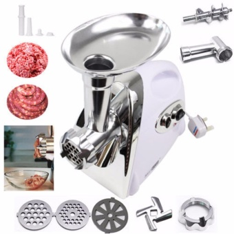 Rukia 2800W Electric Meat Grinder Kitchen Steel Sausage FillerMincer Vegetables Maker and Clever Cutter 2 in 1 Kitchen Knife& Cutting Board Scissors Stainless Steel with FREE 1 of KitchenSink Shelving Bag Dish Rack Suction Sponge Hanging Drain Hold - 4