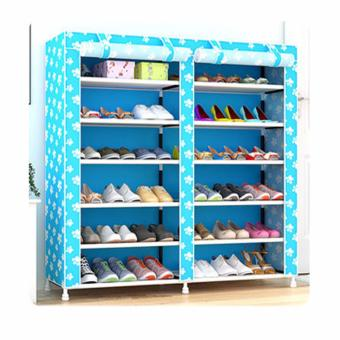 Rukia 6-Tier Double cabinet Shoe Rack Storage Cabinet Organizer