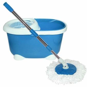 Rukia New 360? Microfiber Magic Rotating Spin Head Easy CleaningFloor Mop Bucket Set (Navy Blue) - 3