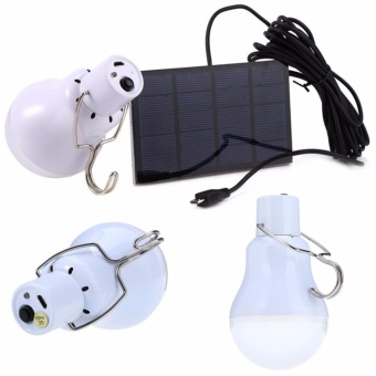 S-1200 15W 130LM Portable Led Bulb Light Charged Solar Energy LampFashion Multicolor - intl