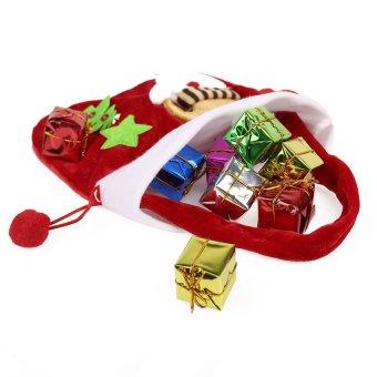 S & F New Year Christmas Candy Bag 2Pcs/lot Santa Bag Enfeite De Natal Red Santa Claus Decor Cristmas Decoration Christmas Candy Bag - Intl - picture 2