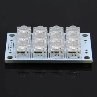 S & F 2Pcs Blue Flux Piranha 12 LED Panel Light 5V Energy Saving Lamp Board (Intl)