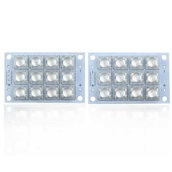 S & F 2Pcs Blue Flux Piranha 12 LED Panel Light 5V Energy Saving Lamp Board (Intl) - picture 2