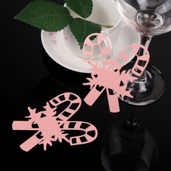 S & F 50 Table Wine Glass Name Place Card Wedding Christmas Decoration 02 Pink (Intl) - picture 2