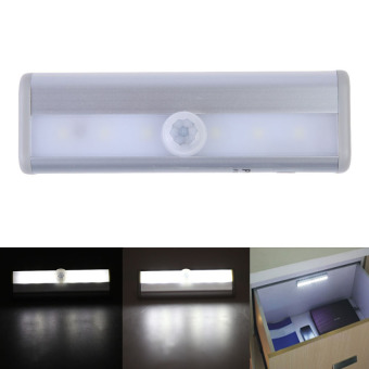 S & F Ultra Bright Wireless PIR/Light Motion Sensor 6LEDs Night Light Lamp White (Intl) - picture 2