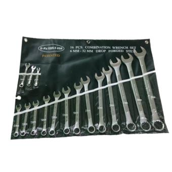 S-KS TOOLS USA 16PCS COMBINATION WRENCH SET 6mm-32mm