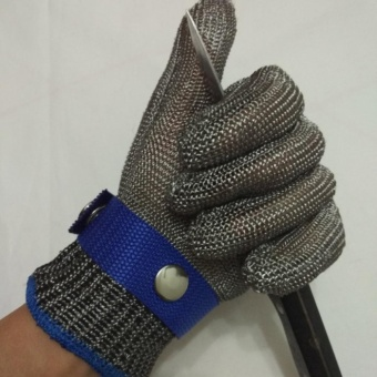 Safety Cut Proof Stab Resistant Stainless Steel Metal Mesh Butcher Work Glove - intl