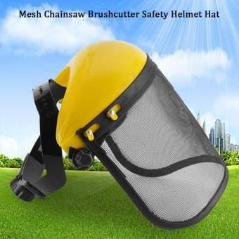 Safety Helmet Hat with Full Face Mesh Visor for Logging BrushcutterForestry Protection - intl
