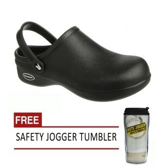 Safety Jogger Bestlight (Black) Rubber Unisex Safety Shoes Footwearwith Free Safety Jogger Tumbler