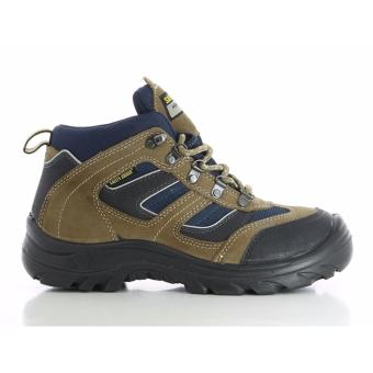 Safety Jogger X2000 Steel Toe Cap and Steel Midsole Safety Shoes (Brown)
