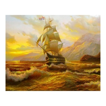 Sailboat 5D Diamond DIY Painting Craft Home Decor - intl