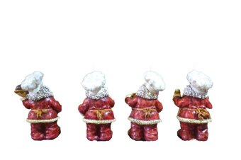 Santa Claus Chef Baker for Kitchen Figurines Set of 4 Figurine for the Holiday (Made of Fiberglass Resin) by Everything About Santa (Christmas decoration and gift suggestion) - picture 2