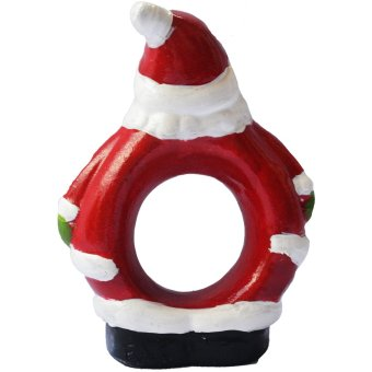 Santa Claus Napkin Ring /T issue Holder for table setting Figurinefor the Holiday (Made of Fiberglass Resin) by Everything AboutSanta (Christmas decoration and gift suggestion) - 3