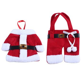 Sanwood® Santa Claus Cutlery Utensil Bags Pockets Christmas Decor