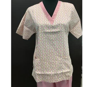 Scrub Suit Set Old rose - Small Price Philippines