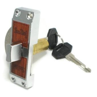 Seabird Sliding Door Latch With Key Silver