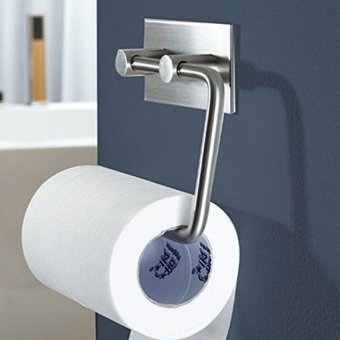Self Adhesive Stainless Steel Tissue Roll Hanger Wall Mount ToiletPaper Holder Storage Bathroom Kitchen