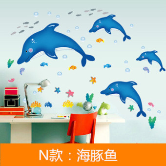 Self-adhesive wallpaper glass doors and windows adhesive paper wall sticker