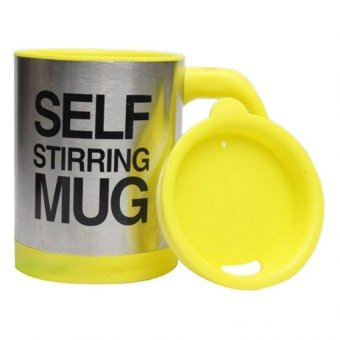 Self Stirring Coffee Mug(Yellow)