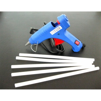 Set No.58 Mini 20W Professional Handy High Temp Heater Hot MeltGlue Gun with Glue Stick 5pcs.