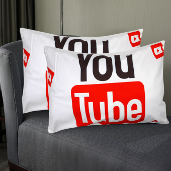 Set of 2 Perfect Cotton Bedding Pillow Case Cool YouTube Design