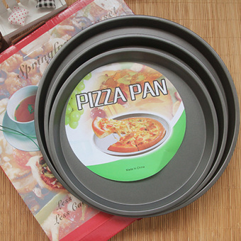Set of 3Pcs Non Stick Pizza Pan 9 + 10 + 12 Inches - 2