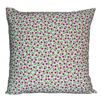 Sew Fab Posies Organic Throw Pillow Cover Set of 4 (Red) - picture 2