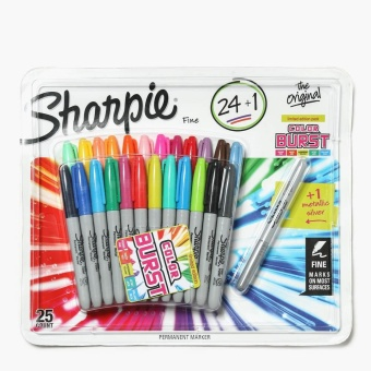 Sharpie Fine Permanent Markers of 24 + 1