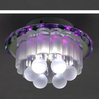 Shifan Led Surface Mounted Ceiling Light 3W (Purple Light) 18*11CMCrystal Creative Aisle / Corridor / Porch / Living Room Lamps B0076