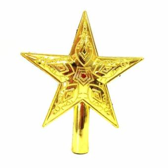Shiny Xmas Decorative Christmas star Tree Topper for Table TopOrnament Reusable Medium (Gold)